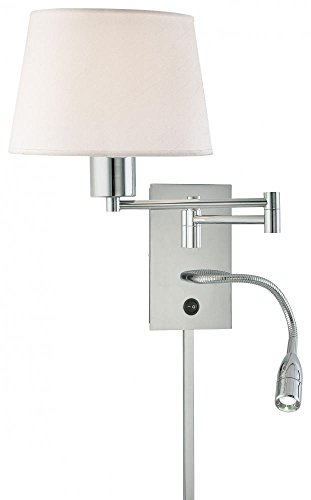 George Kovacs P478-077, Georges Reading Room, 2 Light Swing Arm Wall Sconce, Chrome