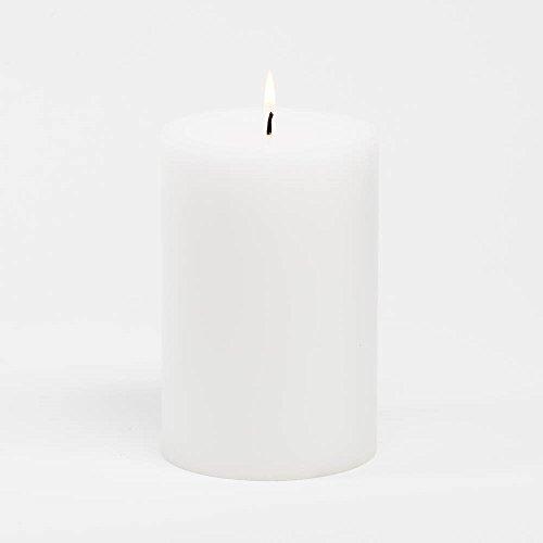 "Richland 4"" Pillar Candles (4""x6"", White)"