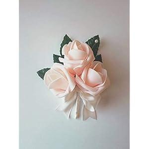 Blush corsage pink corsage blush wedding corsage blush rose corsage 82