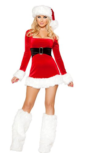Neilyoshop Women's Christmas Costumes Santa's Saint Holiday Outfits Dress Large -