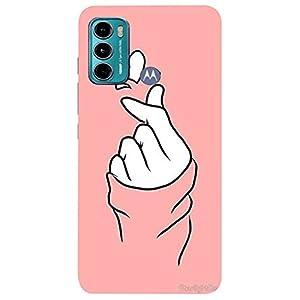 Girl Hand,Pink Design Back Cover for Motorola Moto G60/Motorola Moto G40 Fusion