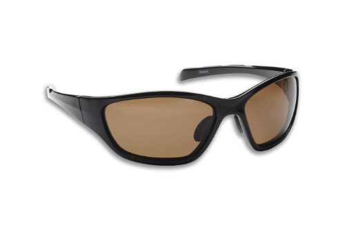 Fisherman Eyewear Wave Original Polarized Sunglasses (Black Frame, Brown - Fisherman Eyewear Sunglasses