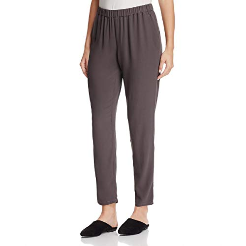 Eileen Fisher Womens Silk Slouchy Ankle Pants