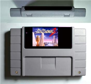 ASMGroup ActRaiser 2- Game Cartridge 16 Bit 46 Game Card SNES For USA Version Game Player