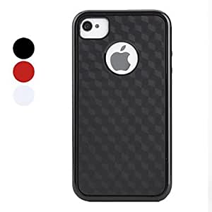Simple Lattice Pattern Bumper and Case for iPhone 4 and 4S (Assorted Colors) , Red