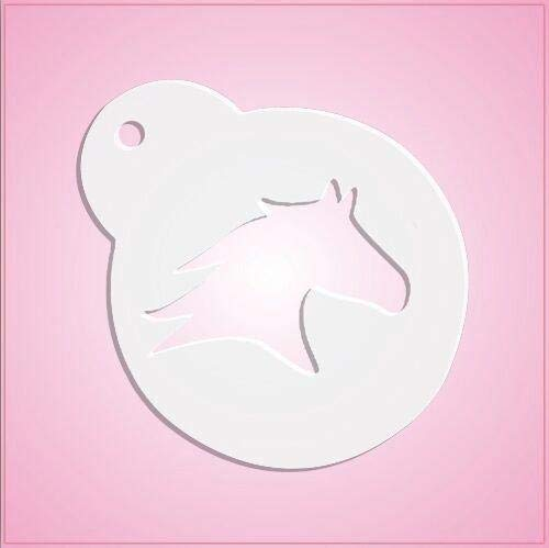 - cheapcookiecutters Horse Head Silhouette Stencil-One Piece Only