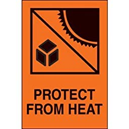 Paper Protect From Heat International Shipping Label - 6\