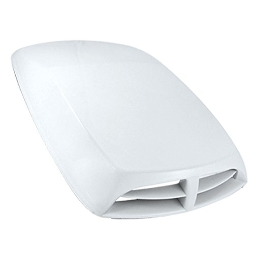 ZYHW Car Vehicle Air Flow Vent Hood Scoop Decoration White