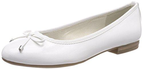 Donna white Tozzi 22137 Patent Ballerine Marco Bianco acvpW4PP