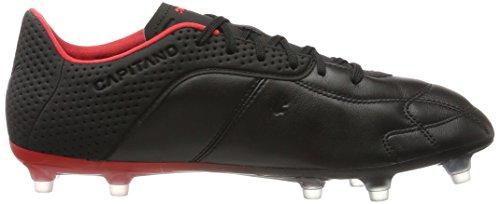 Puma Capitano Fg, Zapatillas de Fútbol para Hombre Negro (Black-white-red)