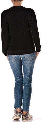 Frogbox - Camiseta de manga larga - para mujer negro