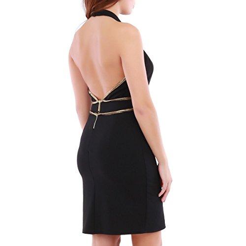 La Modeuse - Vestido - ajustado - para mujer negro