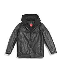 Guess Factory Clint Faux-Leather Jacket (7-16)