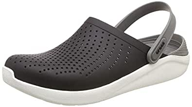 Crocs Unisex Adults LiteRide Clog, Black/Smoke, M4W6