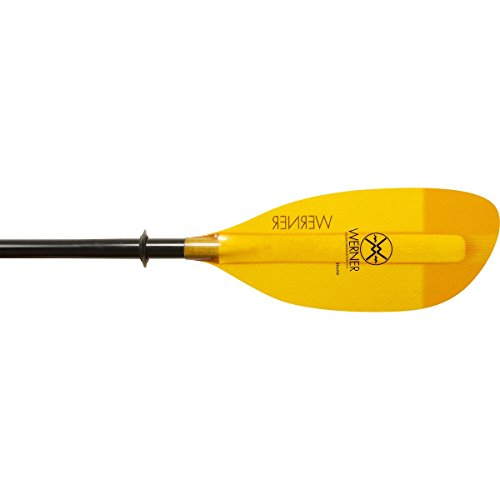 Werner Shuna Fiberglass 2-Piece Paddle - Straight Shaft Amber, 210cm Standard Shaft