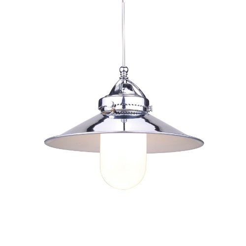 Bronze Monopoint Mini (WAC Lighting MP-LED481-CH/DB Freeport Early Electric Collection 1-Light LED Monopoint Pendant with Chrome Shade and Dark Bronze Finished Cord)