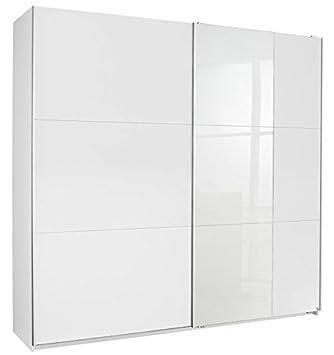 Schwebetürenschrank weiß 2 Türen B 218 cm Jugendzimmer Kinderzimmer ...