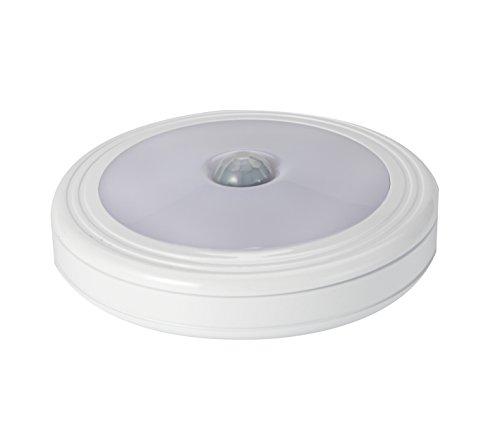 Aufitker Motion Sensor Light, Cordless Battery-Powered LED Night Light, Stick-anywhere, Closet Lights Stair Lights, Safe Lights for Hallway, Bathroom, Bedroom, Kitchen, etc.(Round-WarmWhite)