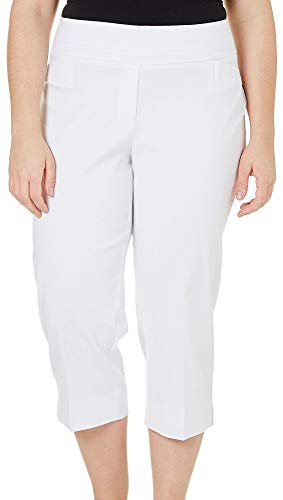 Zac & Rachel Plus Millennium Crop Capris 16W White for sale  Delivered anywhere in USA
