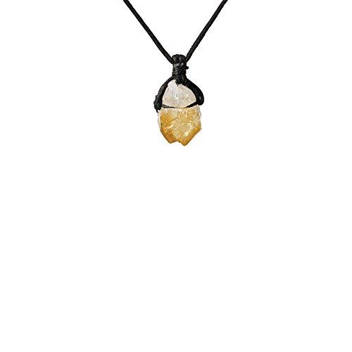 Gypsy World Imports Buy Any 2 GET 1 Free ~ Genuine Raw Gemstone Point Healing Handmade Necklace (Citrine)
