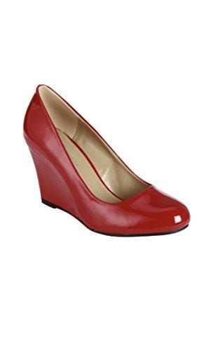 Forever Joyful-57 Dames Sleehakken Pumps-schoenen Rood