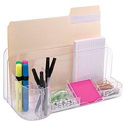UPC 024591653094, Innovative Storage Designs Desktop Organizer, 9 Compartments, Clear