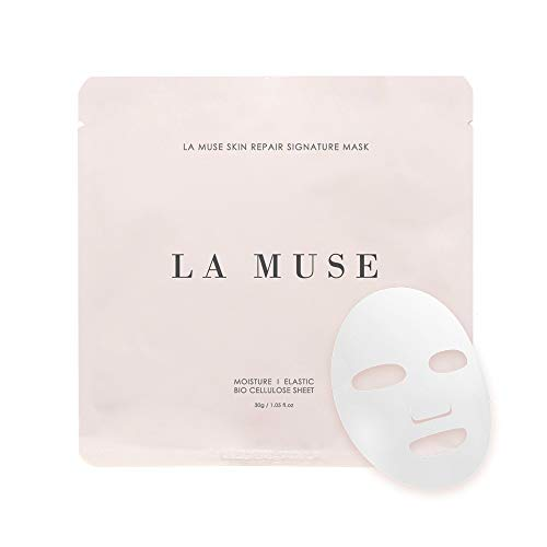 Skin Repair Moisturizing Face Mask - LA MUSE Bio-Celllulose Mask, 5 Sheets Home -