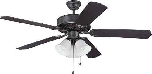 52' Builder Fan Collection - Craftmade K11113 Ceiling Fan Motor with Blades Included, 52