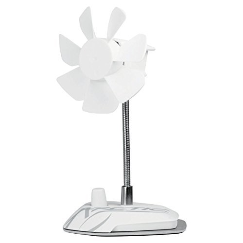ARCTIC Breeze - USB Desktop Fan with Flexible Neck and Adjustable Fan Speed I Portable Desk Fan for Home, Office I Silent USB Fan I Fan Speed 800-1800 RPM - White
