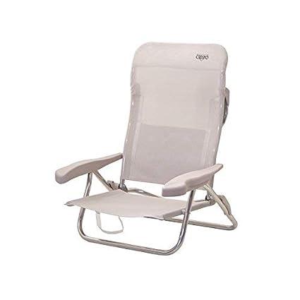 Crespo AL/221-M-34 - Silla-cama playa 7 pos.dural.desmontable (multifibra) 3 patas