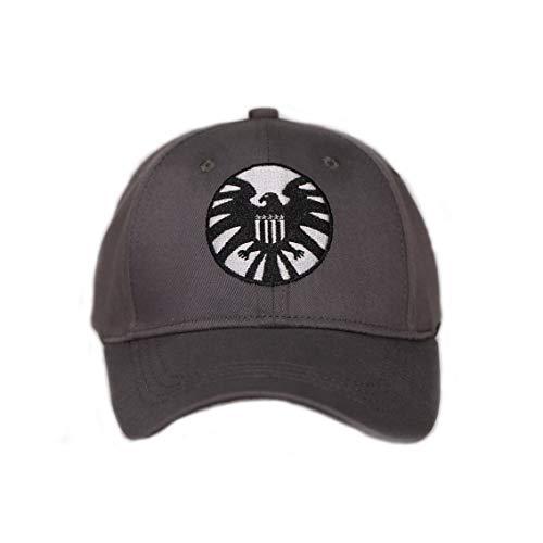 Carol Danvers Cosplay Hat Captain Marvel Shield Cap Gray Cotton Baseball Hat