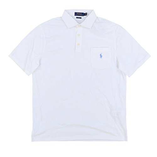 (Polo Ralph Lauren Mens Interlock Pocket Polo Shirt (Large, White))