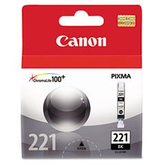 Canon CLI-221BK Ink Cartridge - OEM - OEM# 2946B001 - Black - For use in PIXMA 4600 and Others