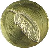 "Feather 3/4"" diameter brass Wax Seal Stamp"