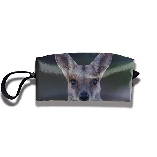 Portable Pencil Bag Cosmetic Pouch Kangaroo Stationery Purse Storage Organizer]()