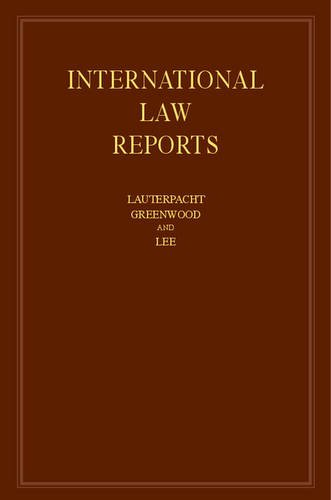 International Law Reports: Volume 167