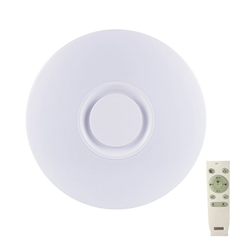 19.7-inch Premium Ceiling Light with Bluetooth Speaker 36W, Dimmable 95-265V Modern Smart Home Party Light, Control The Light Colors, Brightness and Music via Your Phone APP (Remote Includes)