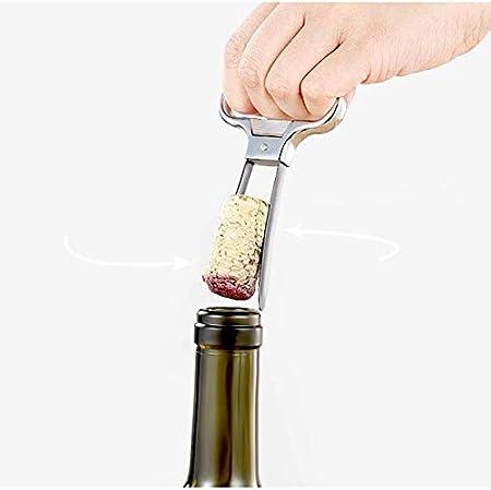 HLR Sacacorchos Abrelatas de Vino Abridores de Botella abridor sacacorchos sacacorchos abrelatas del Vino Dos Clavijas del Tirador del Corcho Durable de Acero Inoxidable for el Vino de la Vendimia