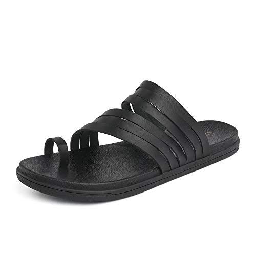 - DREAM PAIRS Women's Flat Sandals Black Size 10 M US Dumbo-Slip