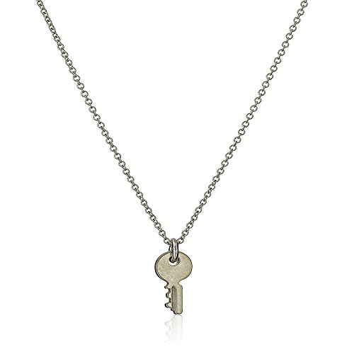 (DIANE LO'REN 18kt White Gold Plated Inspirational Card Pendant Necklace Charms (Confidence is)