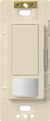 Lutron Maestro Sensor switch, 2A, No Neutral Required, Single-Pole, MS-OPS2-LA, Light Almond