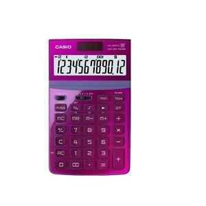 CASIO JW-200TW-PK 12-Digit Calculator GT Dual Power JW200TW Pink /GENUINE