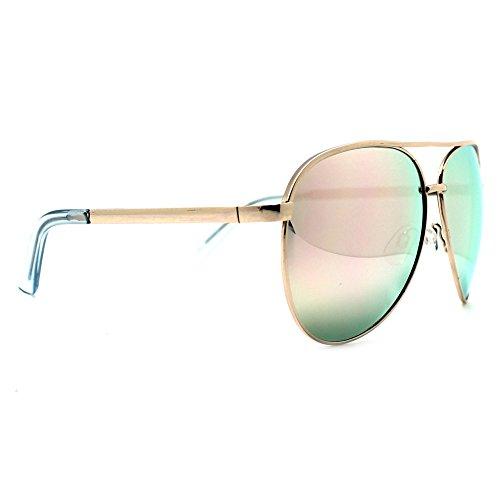 Quay Vivienne Gold/Rose Mirror - Medium Sunglasses Aviator Sized