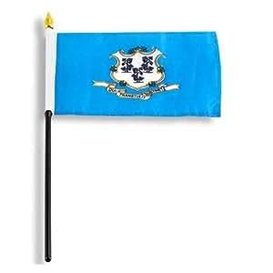 Diseño de la bandera estadounidense Store 10 cm x 15 cm de la bandera de Connecticut