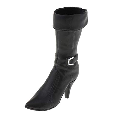 - Flameer 1:6 Scale Fashion Knee Boots High Heel for Sideshow 12inch Action Figure Model Black