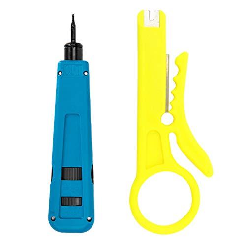 Yardwe Corte Cable Crimpadora Autoajustable para Pelar/Cortar/Presionar el Cable Herramienta para prensar Cables Máquina...