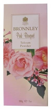 Bronnley Pink Bouquet Talcum Powder ~ 7 Oz - Bronnley Talcum Powder
