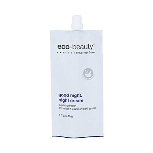 Cream Moisturizing Ounce 0.5 (La Fresh Eco-Beauty Moisturizing Night Cream – Natural Face and Neck Moisturizer to Hydrate, Smooth and Revitalize Skin (0.5 oz Travel Pouch))