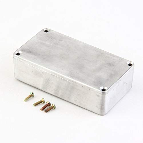 Portable Aluminum Musical Instruments Kit Cable Stomp Box Effects Pedal Enclosure For Guitar Effect Style Cases Holder