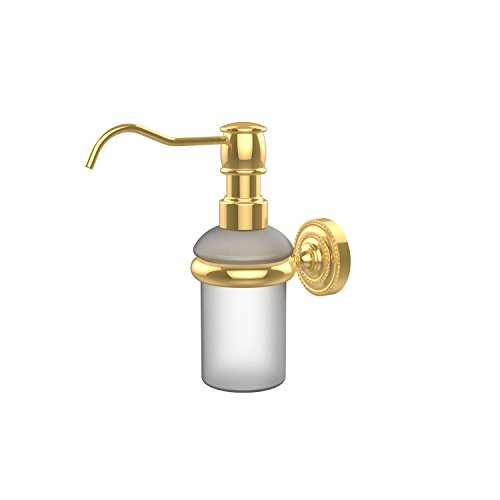 Polished Brass Soap - Allied Brass DT-60-PB Wall Mounted Soap Dispenser, Polished Brass